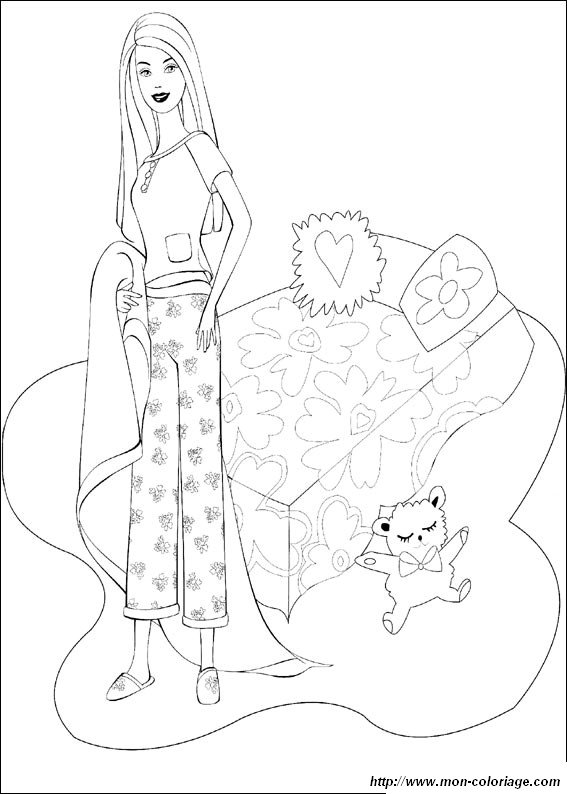 Coloring Barbie Page Barbie Is Ready