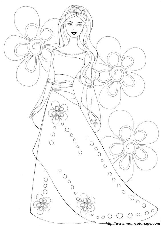 barbie wedding coloring pages - photo#30