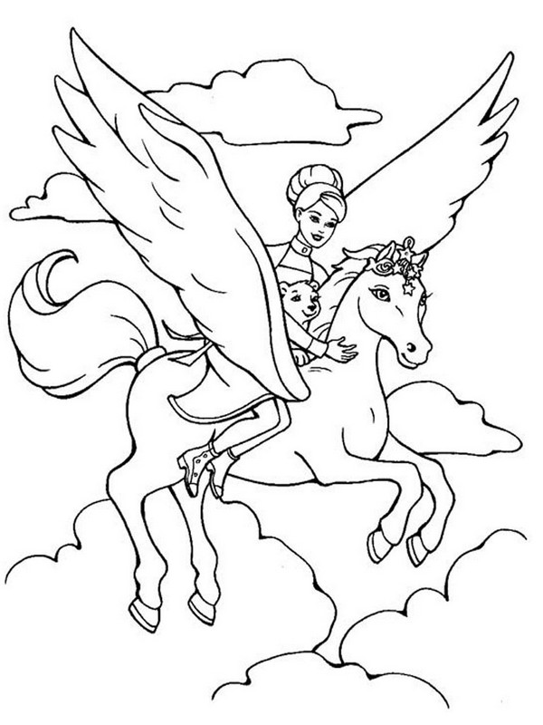 picture with pegasus in heaven
