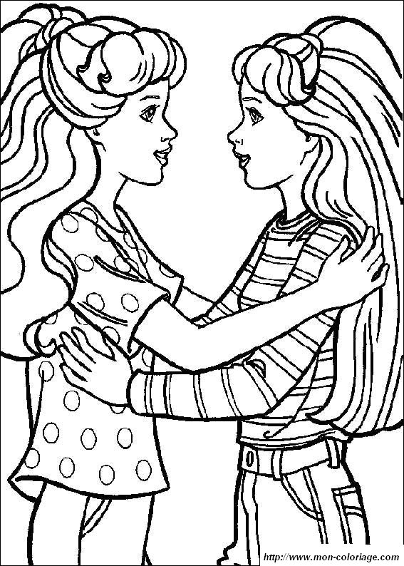 coloring pages of sisters - photo#27