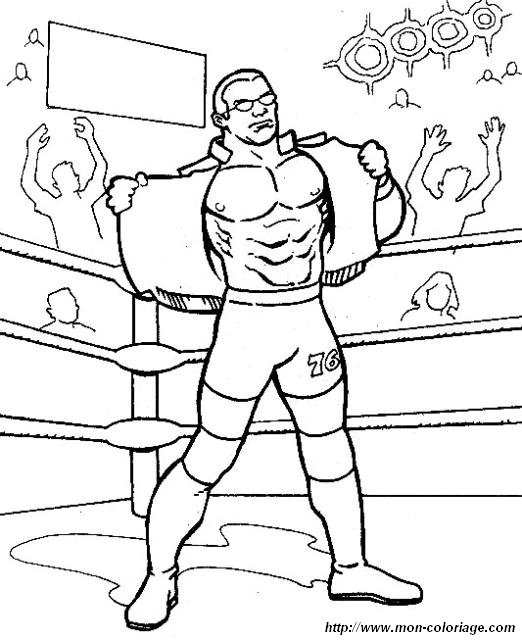 Coloring WWE Wrestling Page Clothes Wrestling
