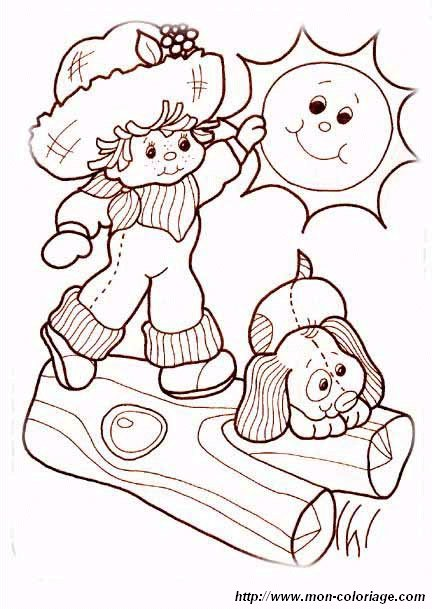 picture strawberry shortcake to color