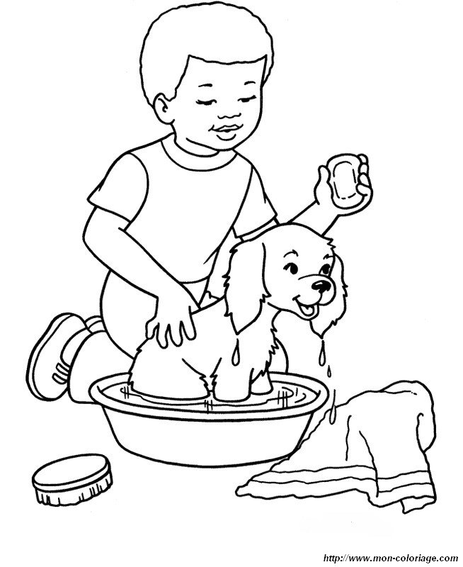 bath time coloring pages - photo#29