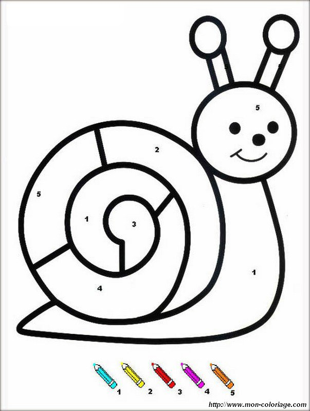 picture coloring snail