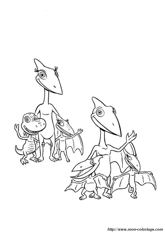 picture dinosaur train to color
