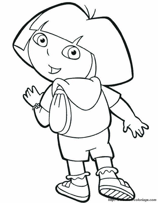 dora coloring pages backpack - photo#11