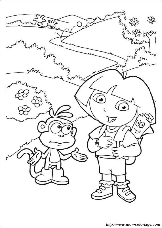 picture map backpack and dora