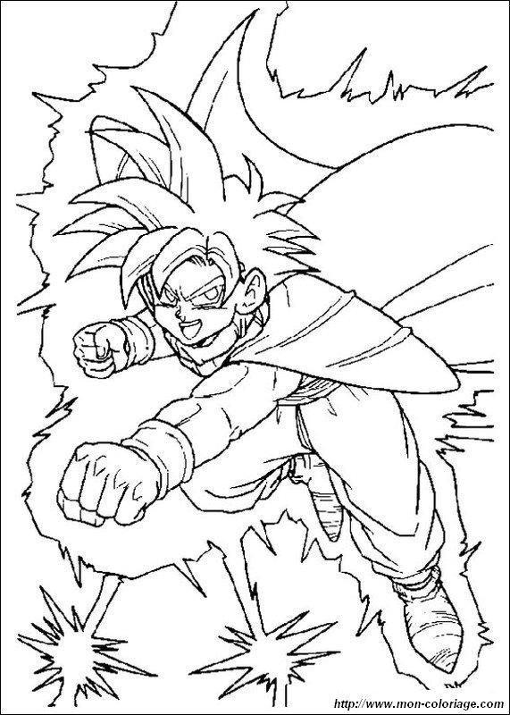 free super saiyans 3 coloring pages