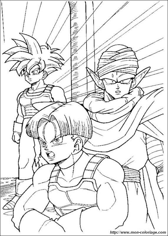 picture gohan with picccolo and trunks