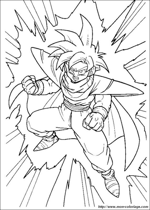 Coloring Dragon Ball Z Page Gohan