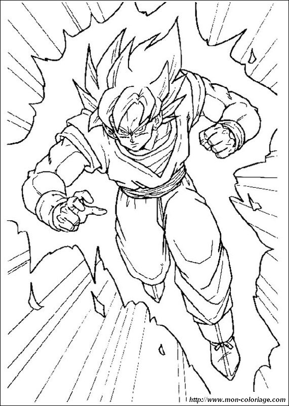 Coloring Dragon Ball Z Page Goku Super Saiyan