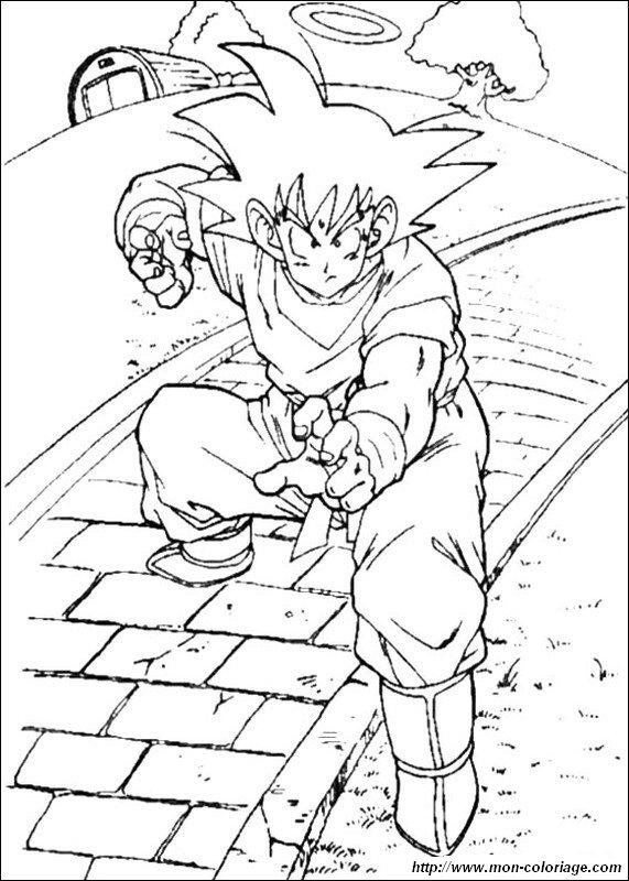 coloring Dragon Ball Z, page goku