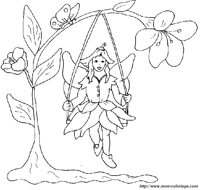 Flower Fairies Colouring : Free flower fairy coloring pages