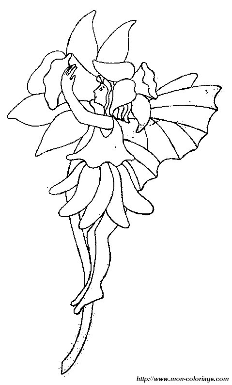 Free Flower Fairy Coloring Pages