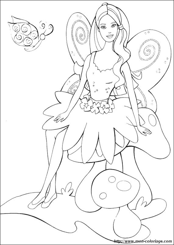 barbie butterfly coloring pages - photo#29