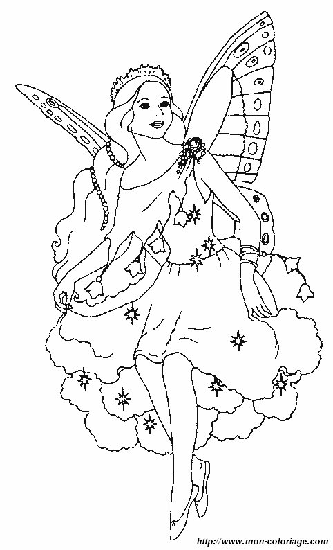 coloring Fairy, page beautiful fairy