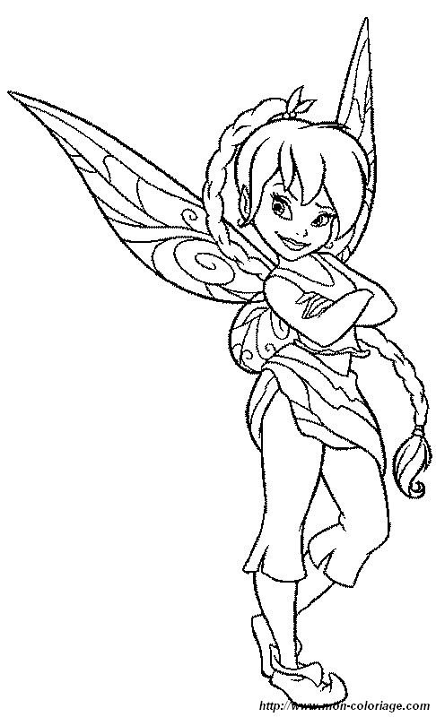 Coloring Fairy Page Tinkerbell Disney