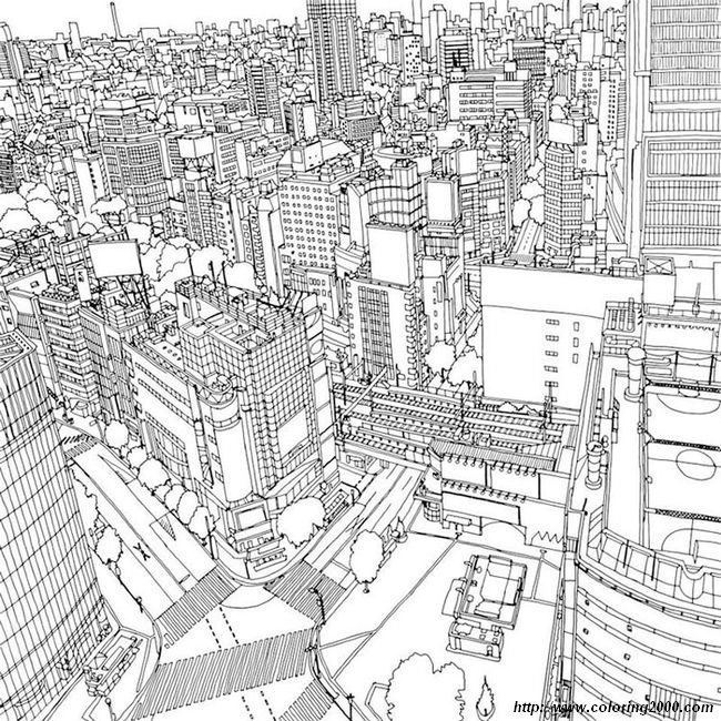 picture A city very detailed