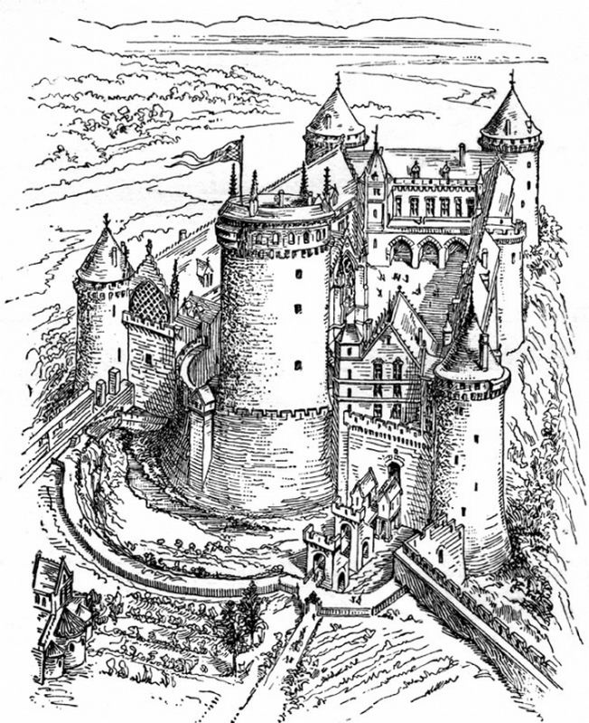 Coloring For Adults Page Castle Coloring Page Jpeg