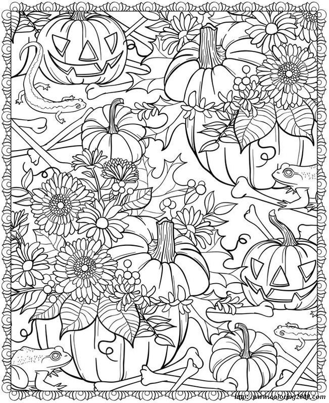 picture Halloween coloring pages for adults