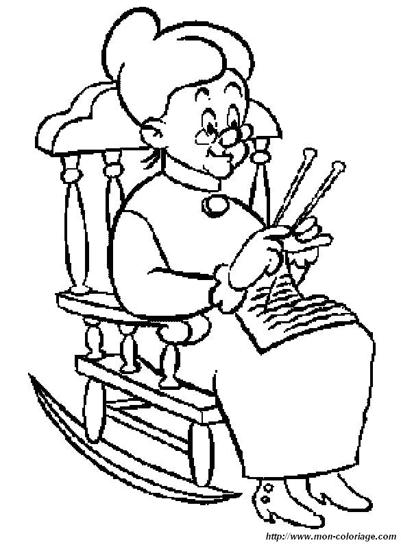 free grandma coloring pages-#9