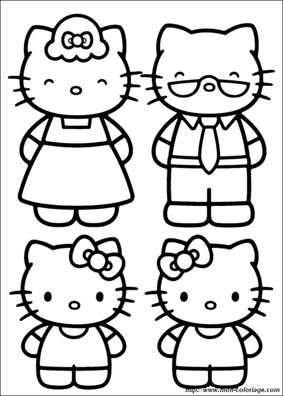 picture The family of Hello Kitty