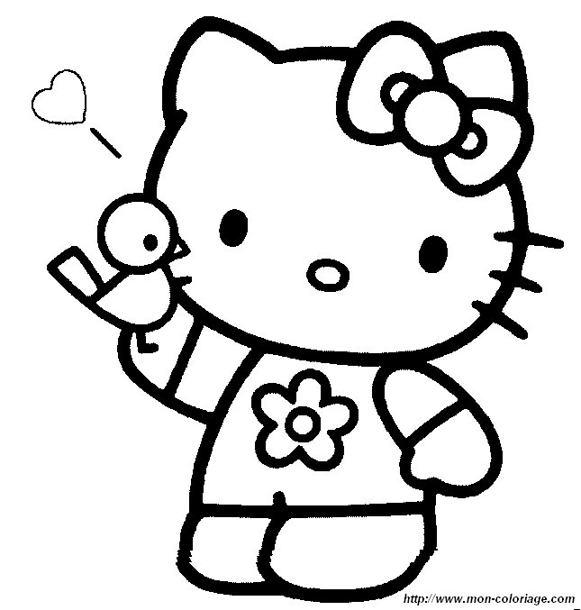 Coloring Hello Kitty Page Hello021