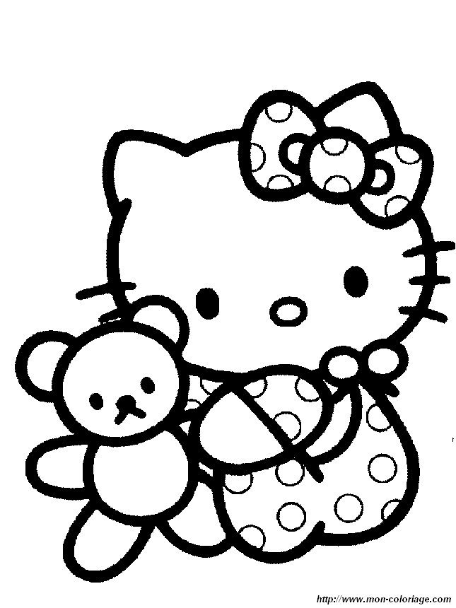 Hello Kitty Coloring Pages You Can Print : Coloring hello kitty page