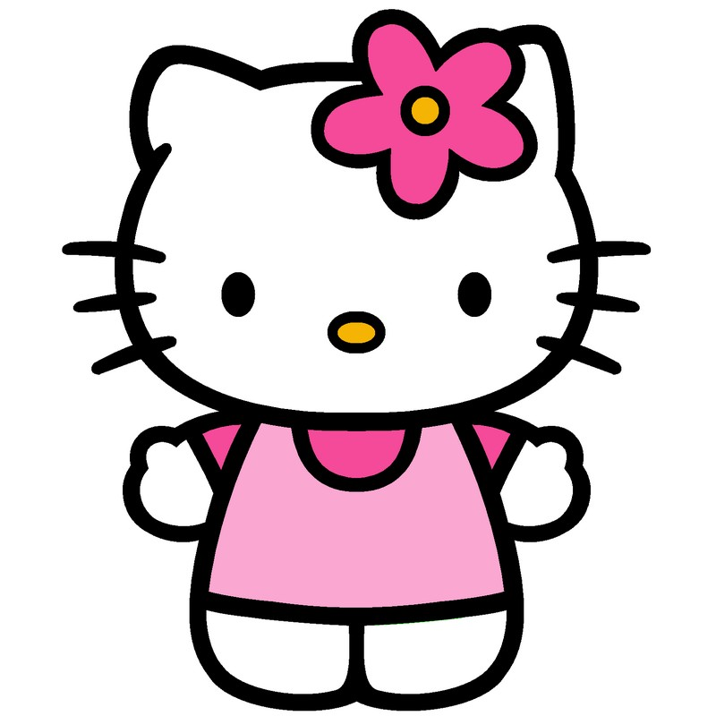 coloring Hello Kitty, page hello kitty