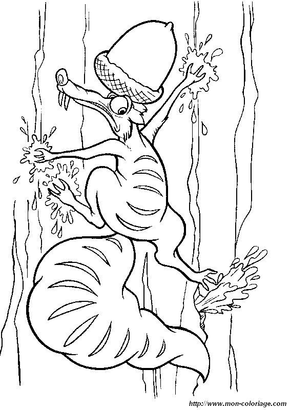 Ice Age Coloring Pages Pdf : Coloring ice age page iceage