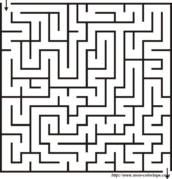 coloring Maze and labyrinth, page coloring labyrinth