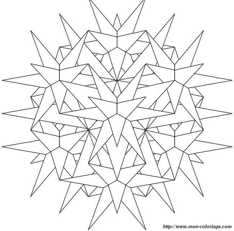 coloring mandalas  page like snow crystal