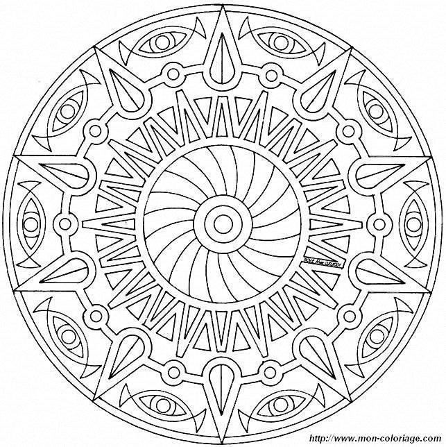 Coloring Mandalas Page Mandalas Mandalas61a75 006