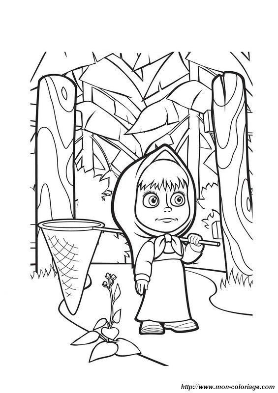 Coloring Masha And The Bear Page Mascha11