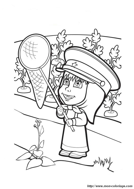 masha i medved coloring pages - photo#3