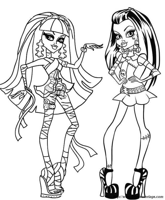 coloring Monster High, page monster high