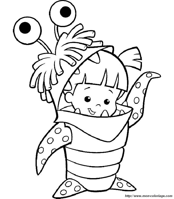 Sad boo from monsters inc coloring pages coloring pages for Monsters inc boo coloring pages