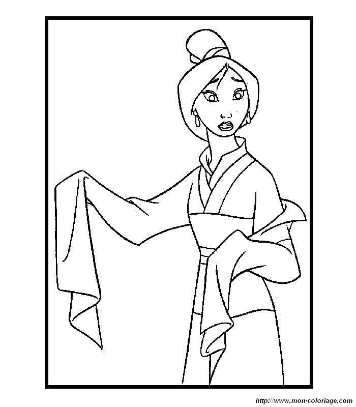 Mulan Coloring Pages Pdf : Coloring mulan page