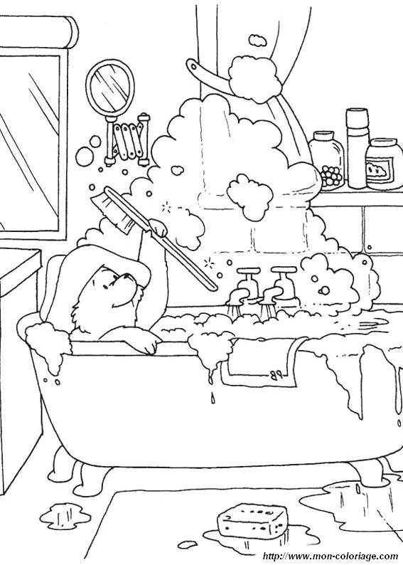bathroom coloring pages - photo#35