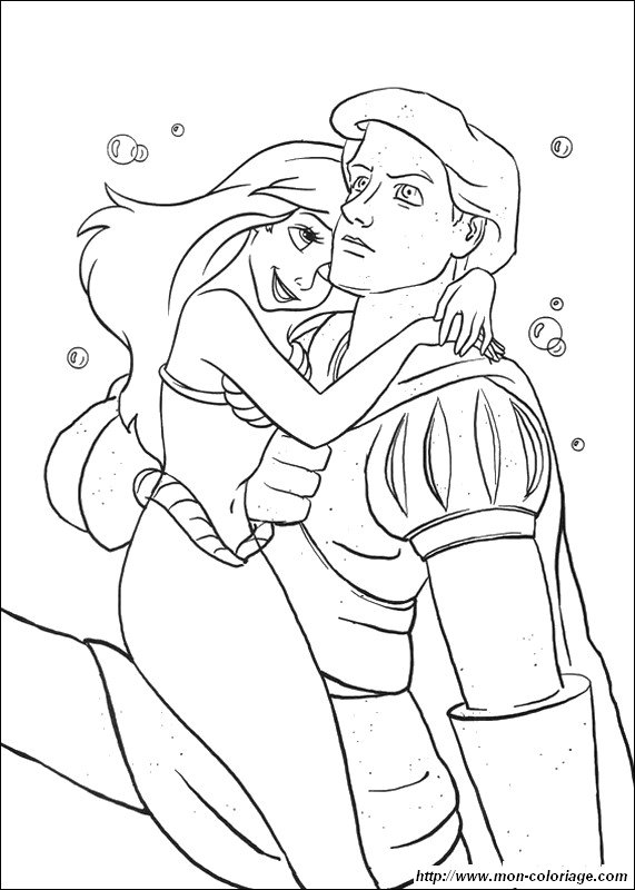 coloring The little mermaid page