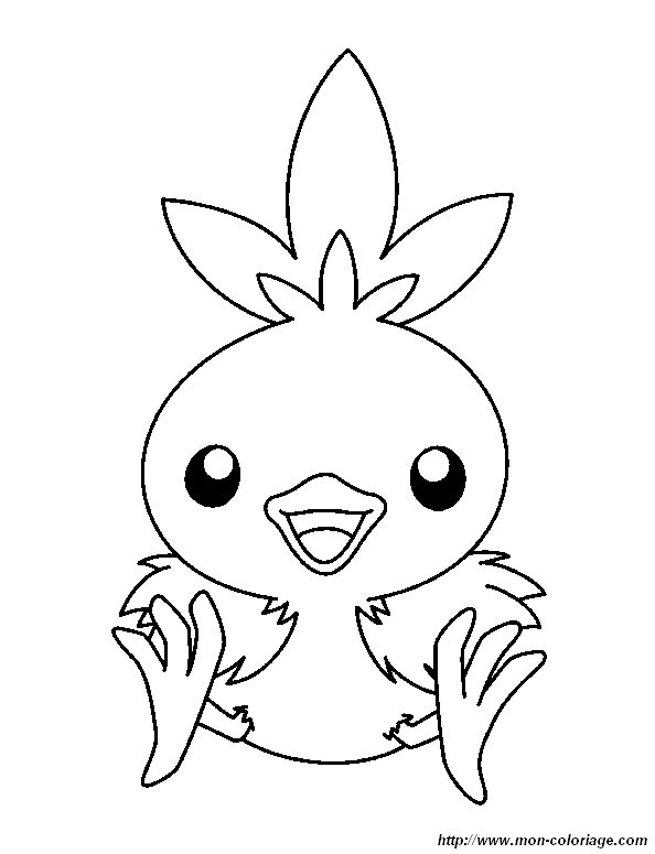 Coloring Pokemon Page Baby Bird Baby Bird Coloring Page
