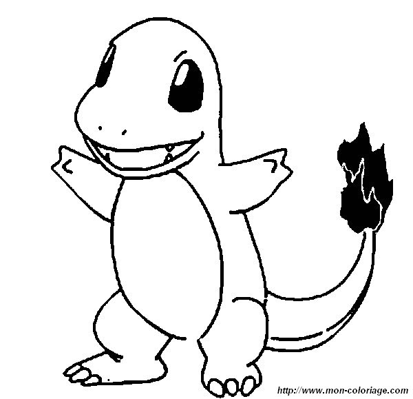 coloring pokemon page charmander