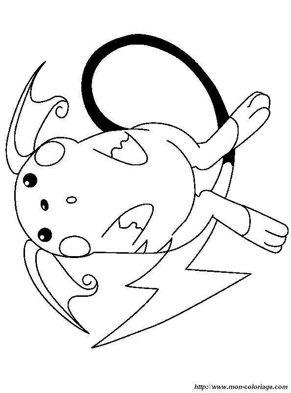 coloring Pokemon, page raichu 1