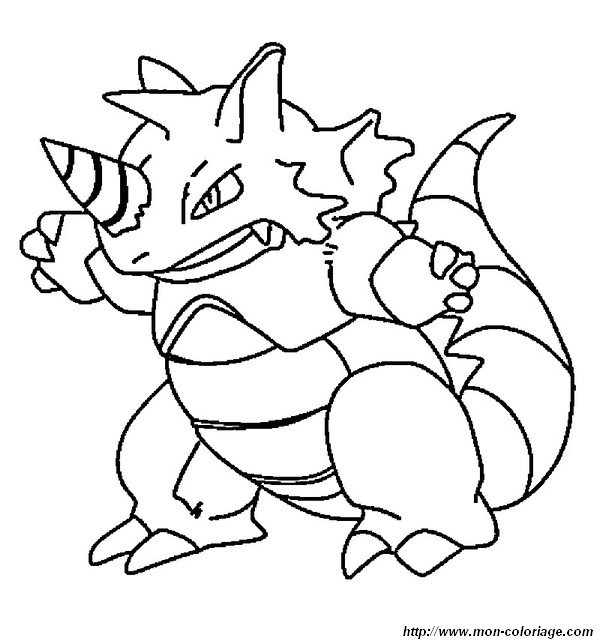 rhyperior pokemon coloring pages - photo#5