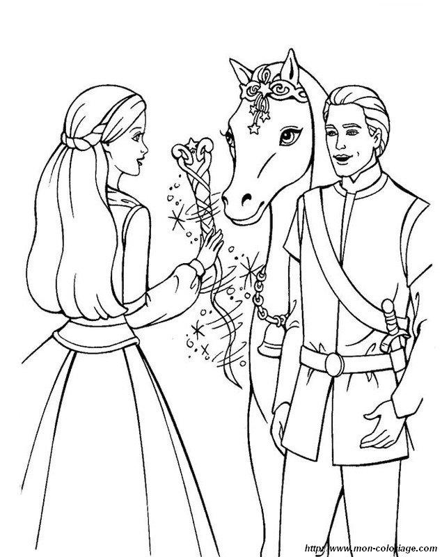 prince and princess coloring pages - photo#32