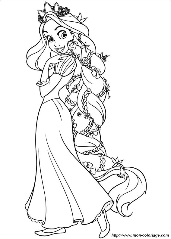 Coloring Rapunzel Tangled Page Printable Rapunzel Printable Rapunzel Coloring Pages