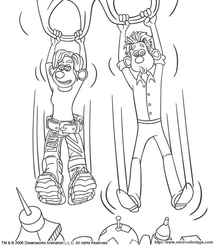 flushed away coloring pages - photo#12