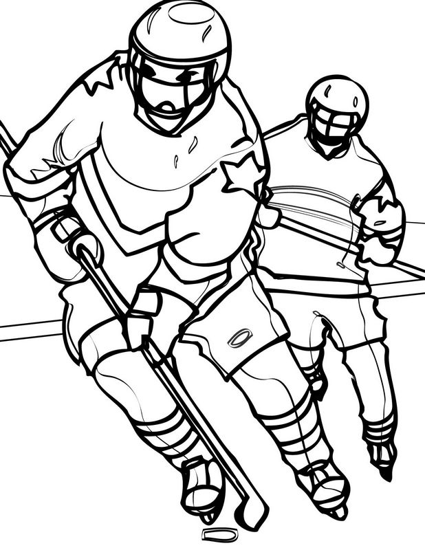 PowerHouse Hockey Coloring Pages | YesColoring | Free | NHL | 800x618