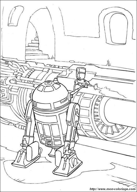 r2d2 coloring pages - photo #18