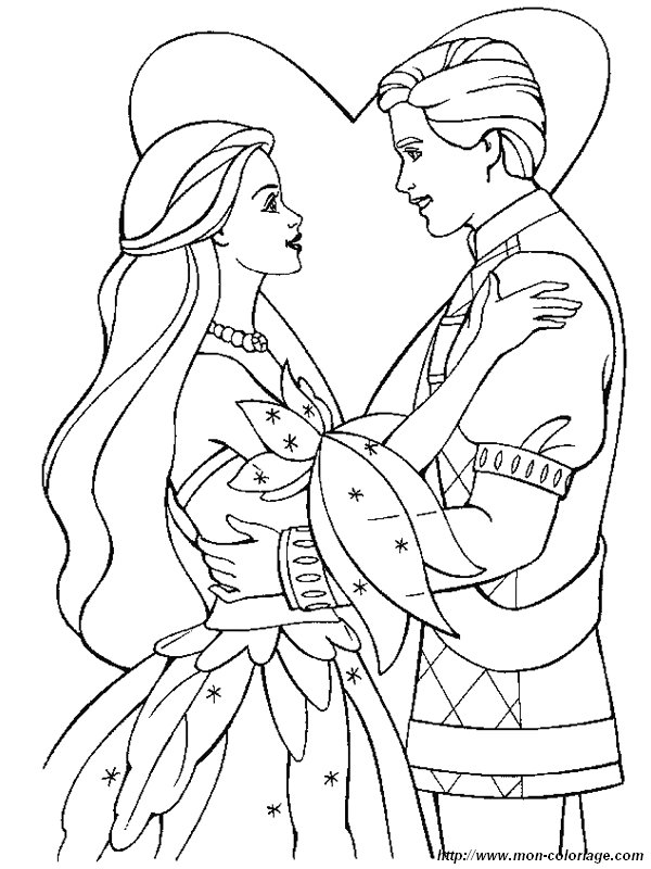 Coloring Pages Barbie Wedding : Coloring wedding page barbie